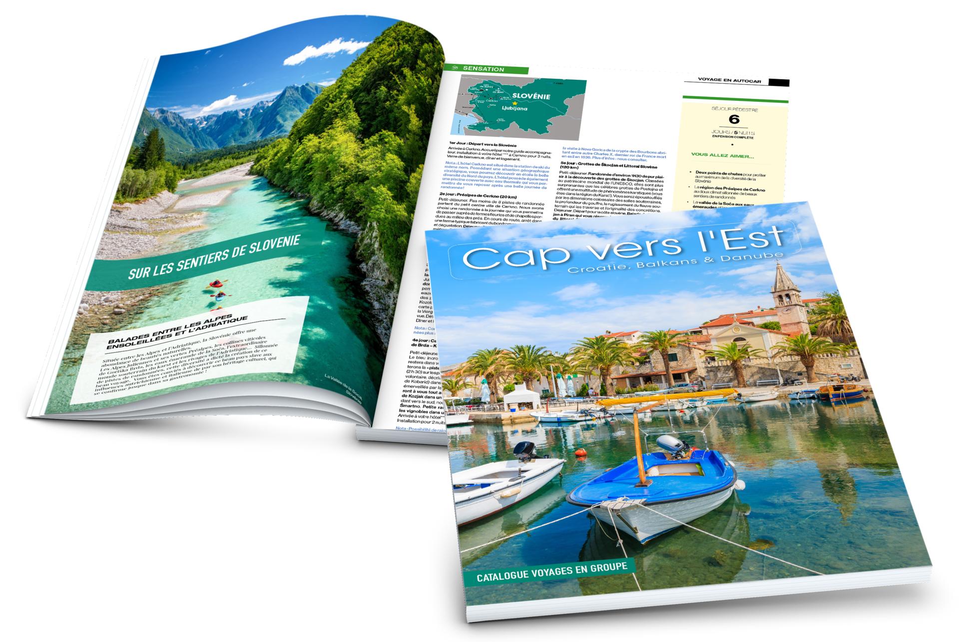 Réceptif Croatie, Cap Vers l'Est, catalogue, brochure, voyages en groupe, Croatie, Balkans, Danube