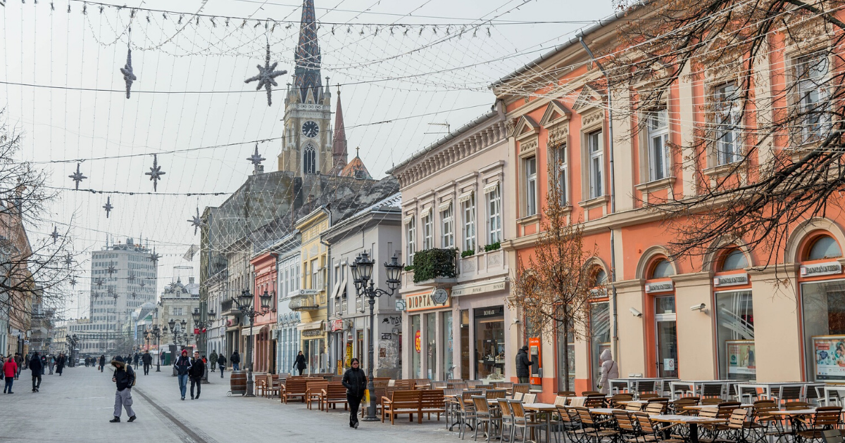 Hiver - Serbie - Ville